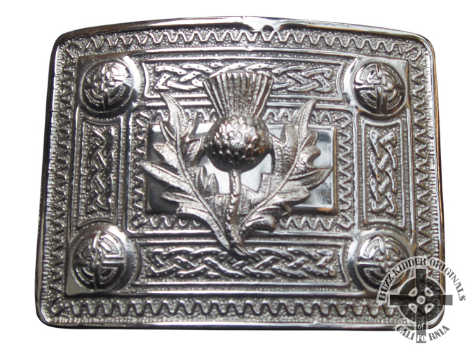 Thistle With Celtic Knot Buckle