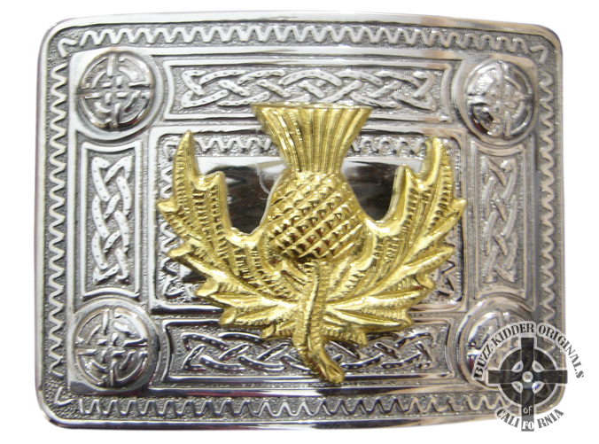Celtic Knot With Gold Thistle